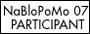NaBloPoMo participant